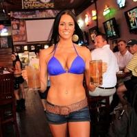 Waitress at Bikinis Sports Bar & Grill