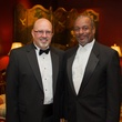 Erik Baden, left, and Richard McFarland at the Alley Theatre Wild Things Dinner October 2014
