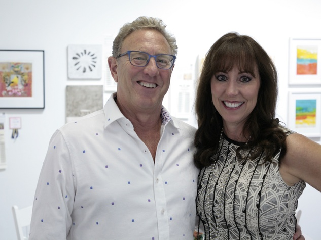 Bobby Bishkin and Annette Santamaria joined hundreds of Houston art enthusiasts at the Art on the Avenue Preview Party