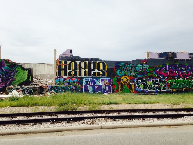 East fourth graffiti wall