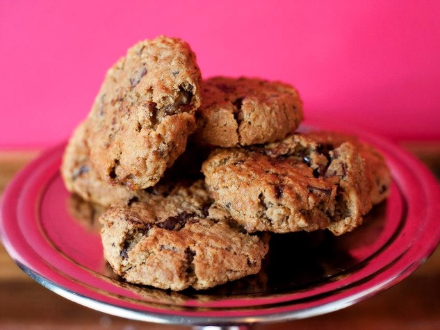 cookies, Pondicheri, chocolate oatmeal chili cookies