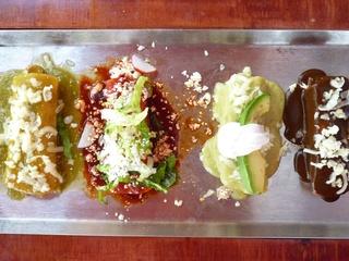 Sylvia's Enchilada Kitchen variety of enchiladas