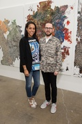 Jessica Nowitzki, James Cope at Dan Rees Opening Reception