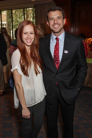Lauren Barnes and Alex Bonetti at the Houston Hospice butterfly luncheon April 2015