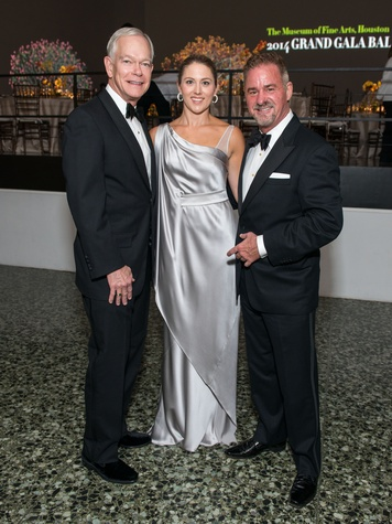 1 Jay Jones, from left, Amy Purvis and Terry Wayne Jones at the MFAH Grand Gala October 2014