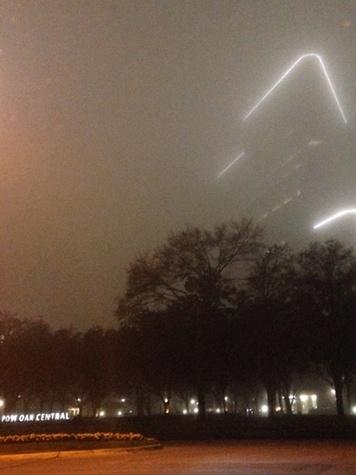 fog in Houston February 2014 Post Oak Central