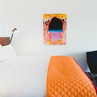 Guest room of Hotel Saint George in Marfa, Texas