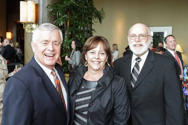 Don Sweat, from left, Patricia Lind and Richard Gruen at the National Philanthropy Day Awards November 2014