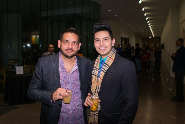 Kevin Pope, left, and Jay Martin at the MFAH Art Crowd Party November 2014