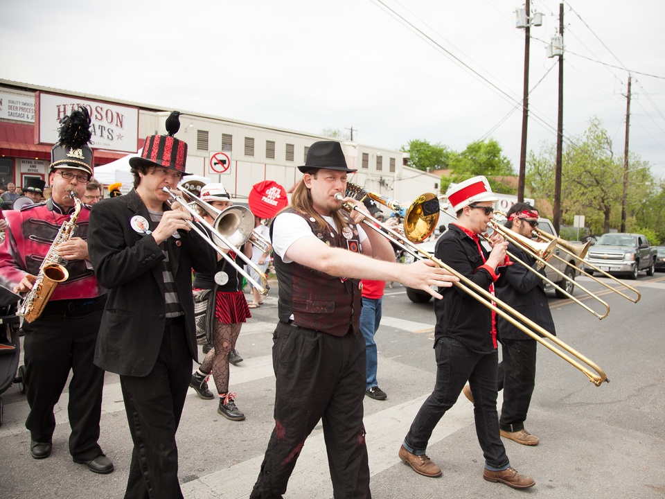 Jo's 16th Annual Pet Parade in Austin Dead Music Capital Band