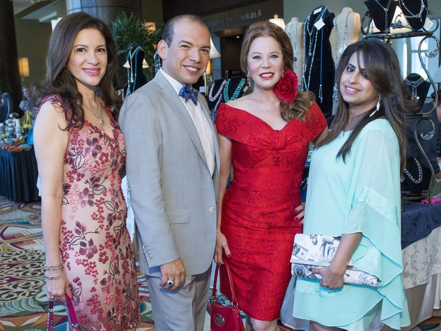 11 Alex Blair, from left, Alex Martinez, Cindi Rose and Ruchi Mukherjee at the Latin Womens Initiative May 2014