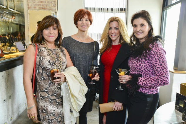12 Margie Schneider, from left, Marcia Alexander, Regina Gust and Shannon Corbett at the Petra Nemcova luncheon December 2013