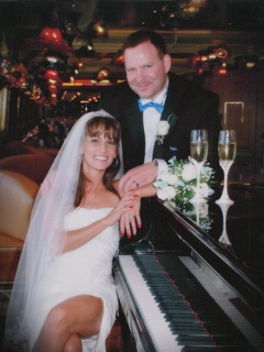 Michele Williams and Greg Williams on their wedding day