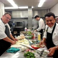 Chris Shepherd, Hugo Ortega James Beard finalists in the kitchen May 2013