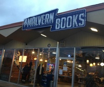 Malvern Books sign