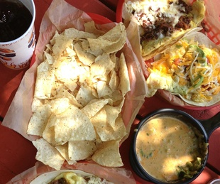 Torchy's Tacos chips queso tacos