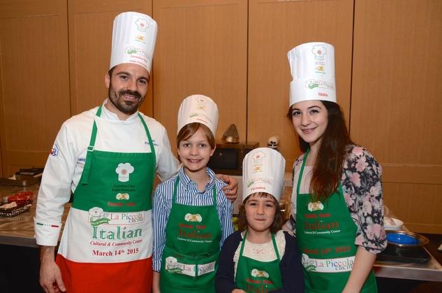 32 The Cannolo Team, from left, Fabio Potenzano, Pier Francesco Papi, Veronica Pascucci and Giulia Sdingola at Tutti ai Fornelli de La Piccola Cucina March 2015