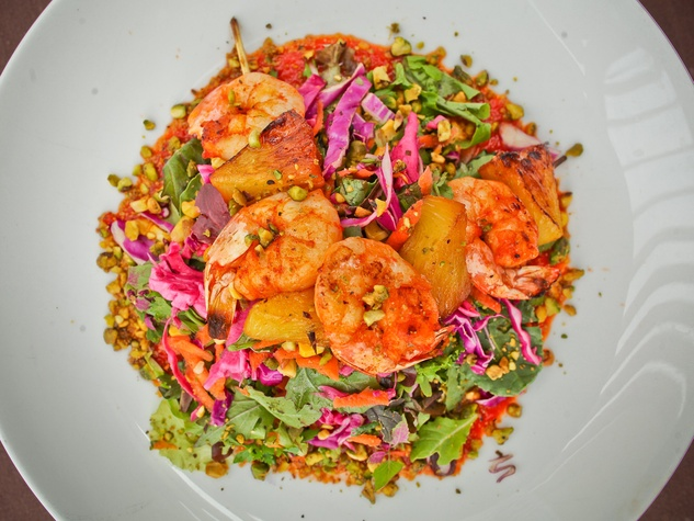 Roots Bistro, March 2013, lunch menu, shrimp