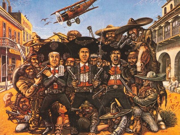 illustration for the movie The Three Amigos