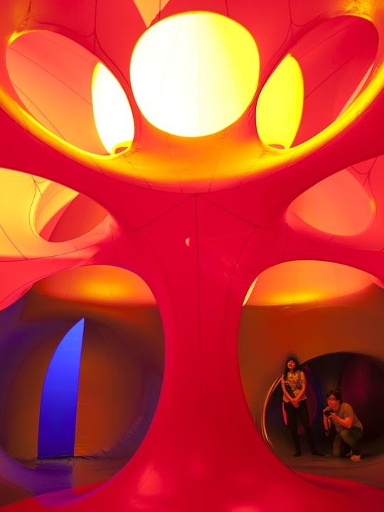 Architects of Air Luminarium Pentalum Long Center orange 2015