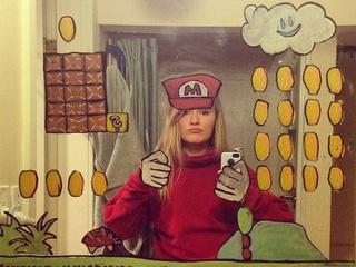 Creative mirror selfies