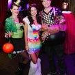 10 Natalie Jenkins, from left, Mandy Lara and Frank Vega at the CultureMap Halloween party at Mr. Peeples October 2013