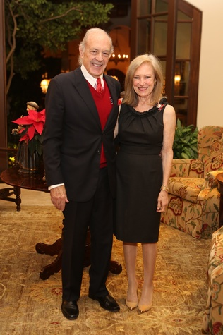 Charles and Sally Neblett at St. Luke's holiday party December 2014