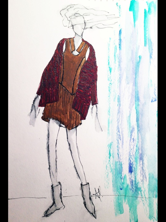 Fashion Week fall 2013, sketches, January 2013, Ann Yee