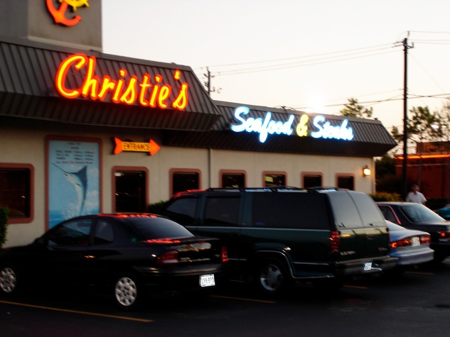 Christie's Seafood & Steaks exterior front night