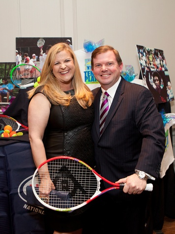 DeeDee and Wallis Marsh at the Houston Tennis Association Gala February 2014