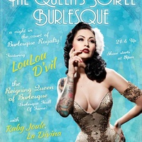 poster for The Queen's Soiree Burlesque Revue at stateside