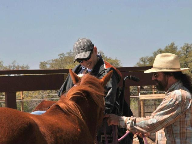 Mike Beck and horse at Joyful Horse Austin benefit