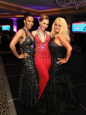 Sharmell Huffman, from left, Elizabeth Lloyd and Eija Watson at the Devereux Gala February 2014