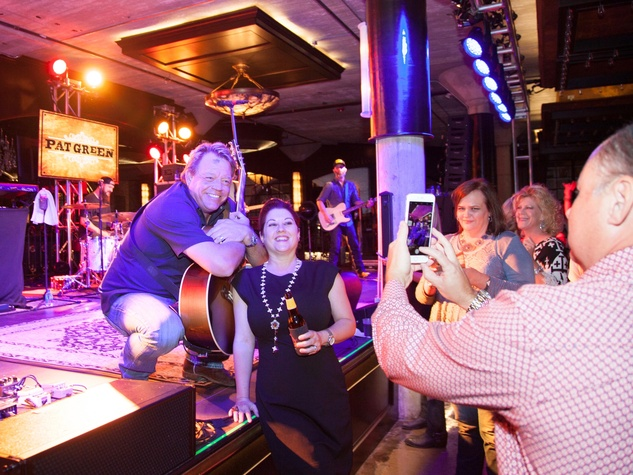 TIRR party, 9/16, Pat Green poses for photos