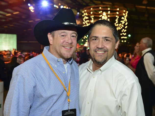 2 Shelby Kibodeaux, left, and Bruce Padilla at the Cattle Barons Ball April 2014