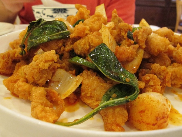Ruthie, fried chicken, June 2012, Mala Sichuan