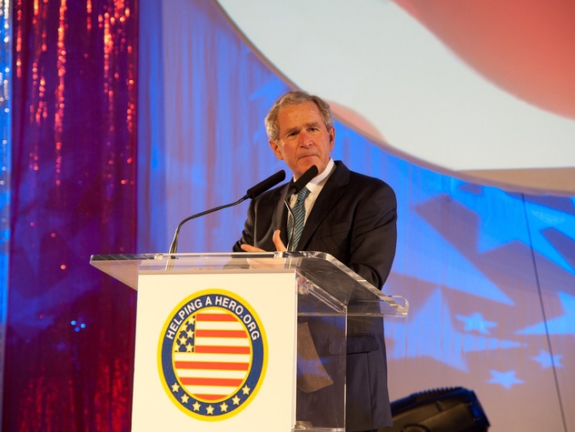 Helping a Hero.org gala, October 2012, Patriot Award Recipient President George W. Bush