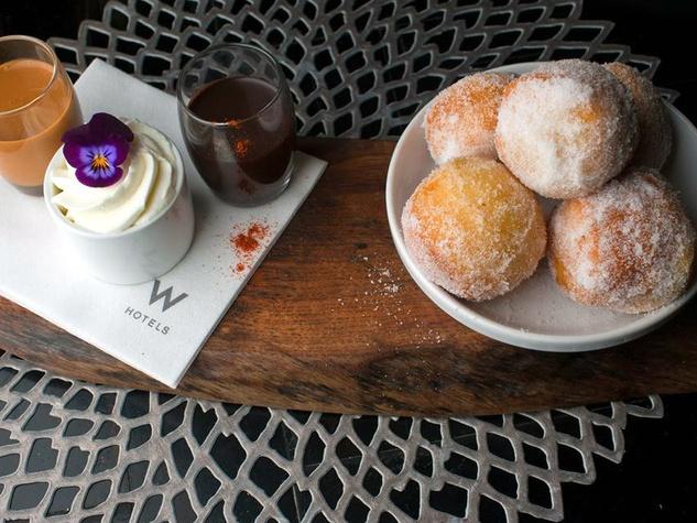 Drunken donuts at Trace restaurant in Austin