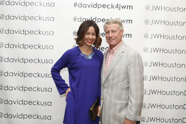 Carrie Colbert and Bob Hogan at the David Peck runway show September 2014