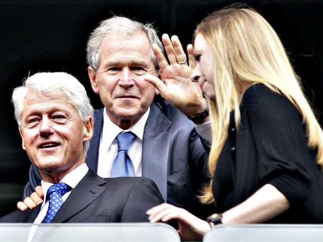 Bill Clinton and George W. Bush