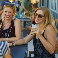 Girls drinking outside