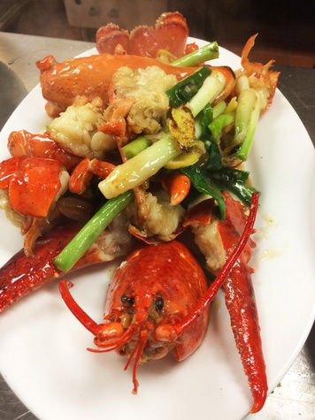 Ginger scallion lobster Wu Chow