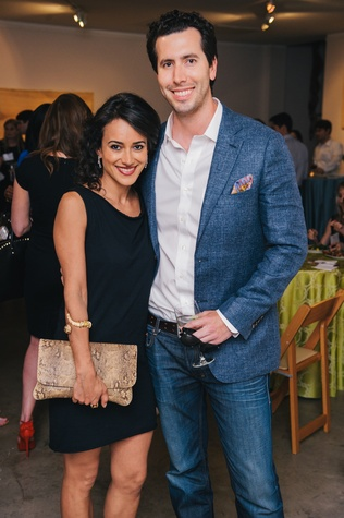 0165 34 Alfonso Barrera and Maryam Afshari at the Houston Symphony's Young Associates Council season kick-off August 2014