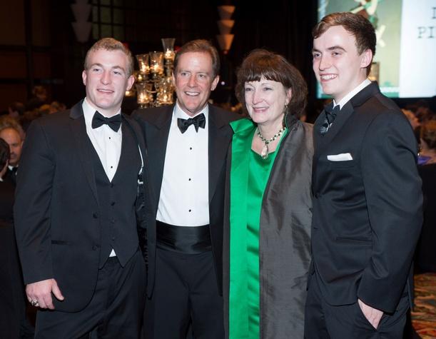 Corey Hamilton, from left, Hank and Tonya Hamilton and Luke Hamilton at the Covenant House Gala April 2014