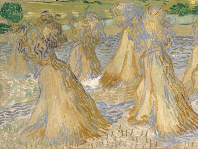 Vincent van Gogh's Seaves of Wheat (detail)