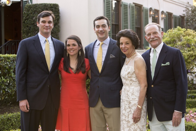 Matt and Lacey Goossen, from left, Jay Goossen and Kathy and Marty Goossen at the Bayou Bend Garden Party March 2015