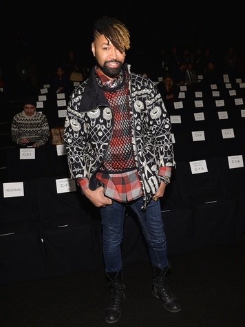 Ty Hunter attends the Naeem Khan fashion show February 2014