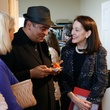 Hamza Serafi and Susie Criner at Slavka Glaser's  FotoFest reception March 2014