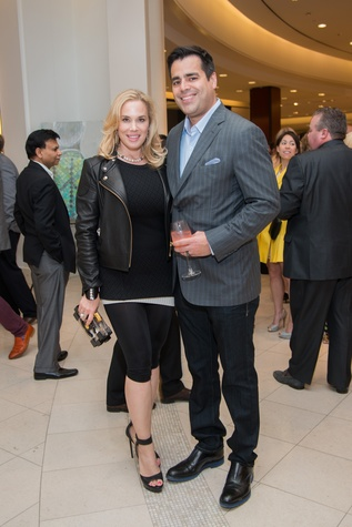 Jenee and Nick Stefanakis at the Leukemia & Lymphoma Society Man & Woman of the Year Kick-off April 2015