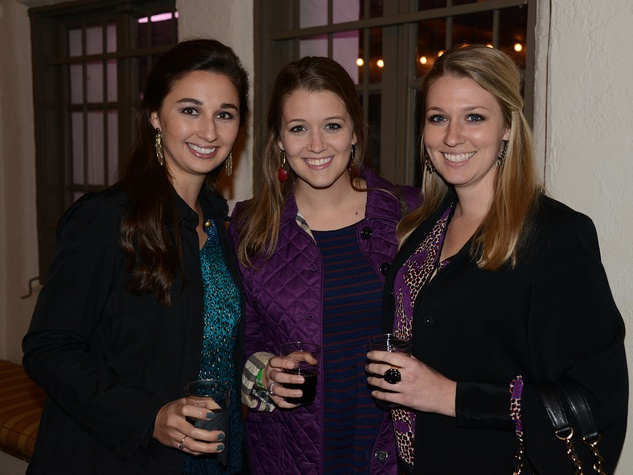 Allyson Camp, from left, Maricarolyn Stith and Christina Stith at the Hermann Park Conservancy's Urban Green event November 2014